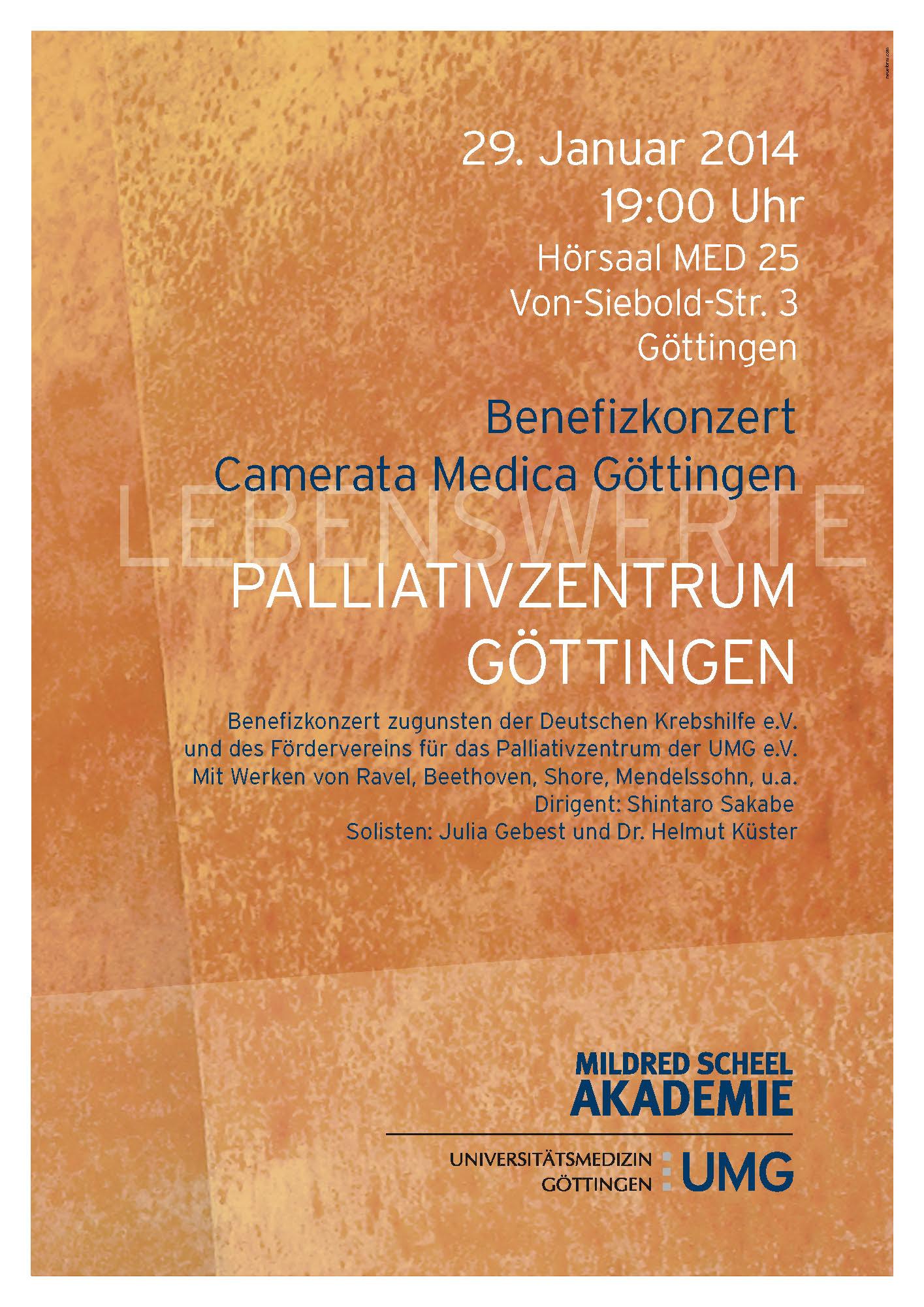 Einladung zum Benefizkonzert am 29.01.2014